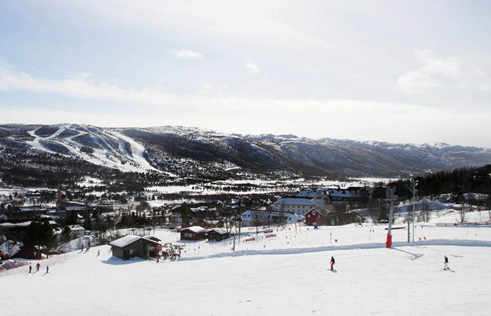The huge Geilo ski resort of western Norway