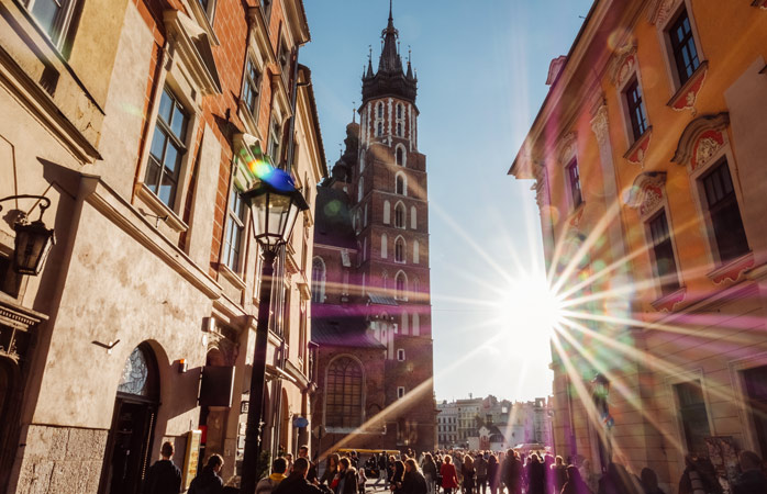 Time for a well-deserved rest day exploring Krakow's quiet back streets