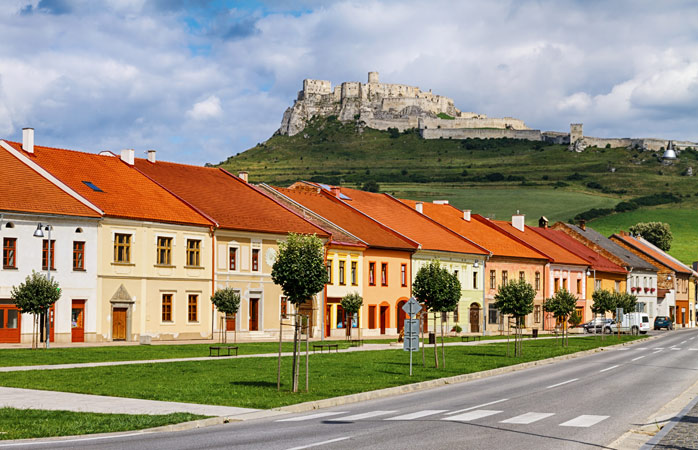 Spišské Podhradie is overlooked by Spiš Castle, one of Slovakia's most photographed spots