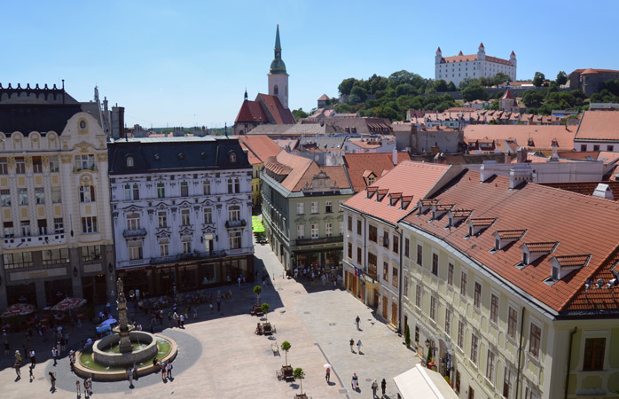 Spend the day meandering the narrow and historical streets of Bratislava