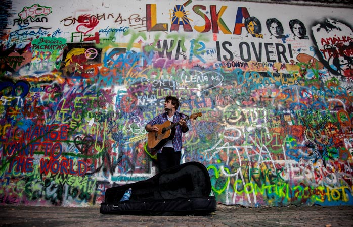 The John Lennon Wall – a lyrical objection to the Communist regime
