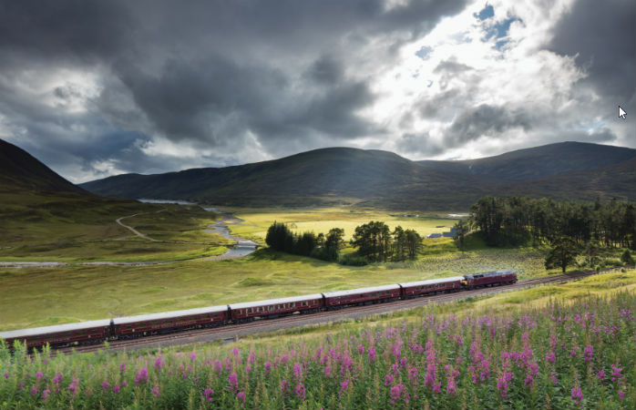 Enjoy an exclusive train ride through the Scottish Highlands with the Royal Scotsman