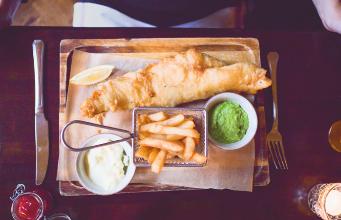 Fish and chips is the quintessential meal in the United Kingdom