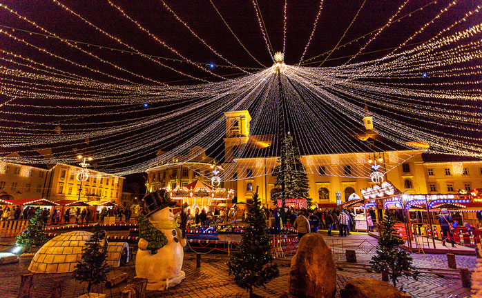 Sheer Christmas magic in the Romanian town Sibiu