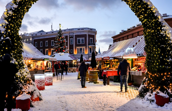 Riga's Christmas market is located in a UNESCO World Heritage Site