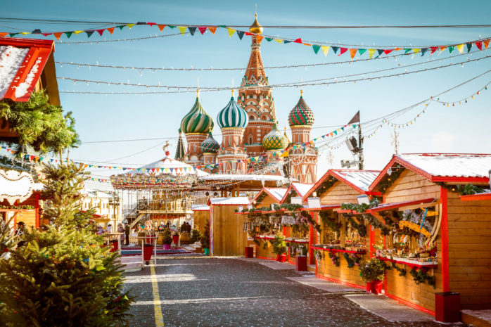 Moscow's Christmas market at The Red Square is a Yuletide experience not to be missed